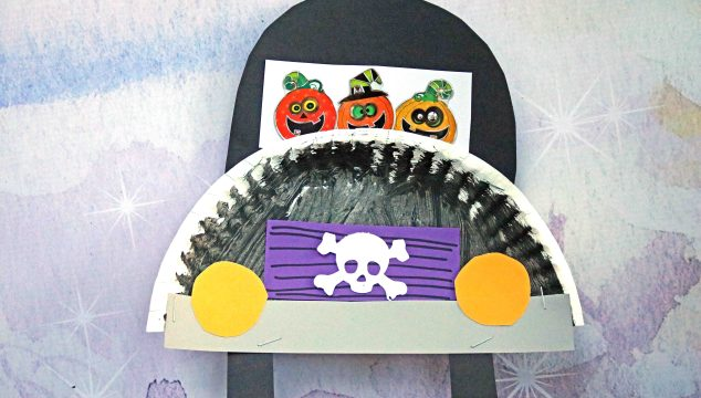 Paper Plate Halloween Truck – Kid Craft