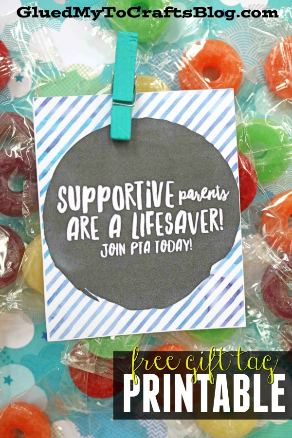 Supporters Like You A Lifesaver - Gift Tag Printable