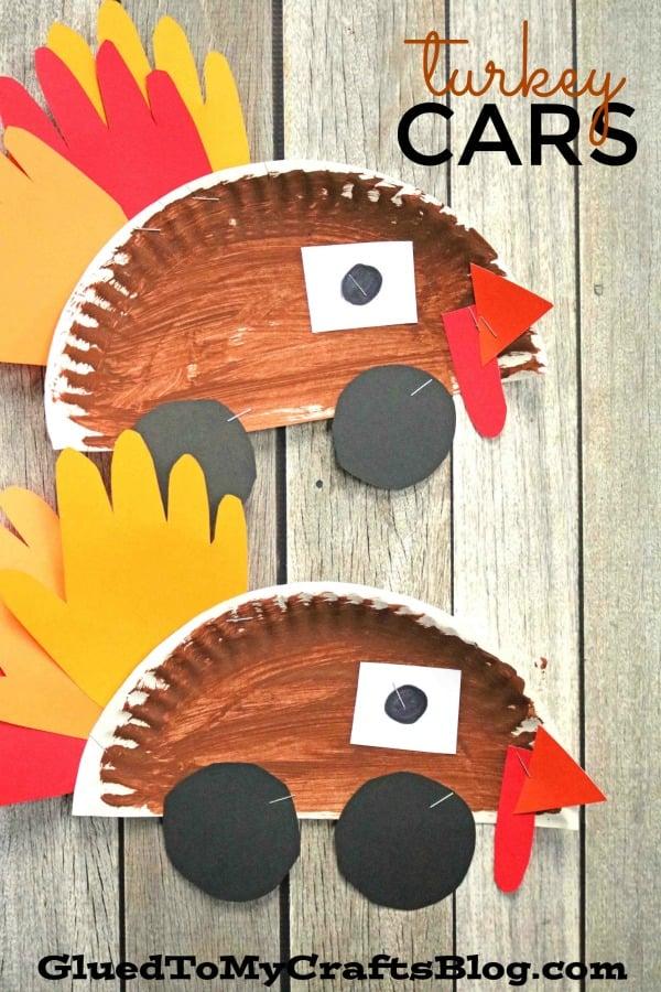 Paper Plate Turkey Cars - Kid Craft