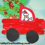 Popsicle Stick Christmas Trucks Holiday Kid Craft Idea
