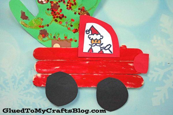 Popsicle Stick Christmas Trucks - Kid Craft