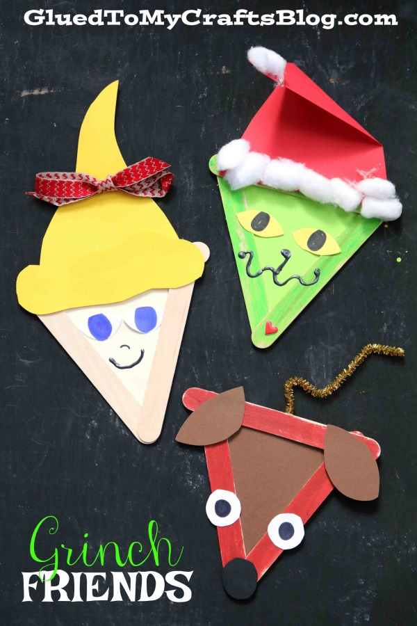 Popsicle Stick Grinch & Friends - Kid Craft