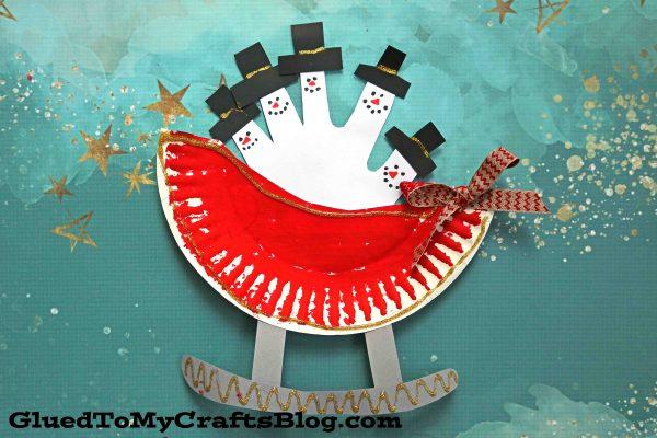Paper Plate Snowman Sleigh - Kid Craft