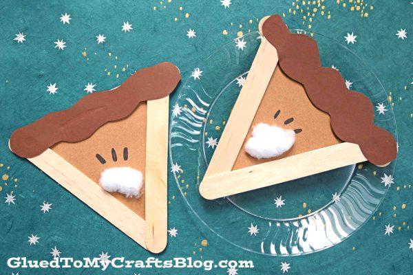 Popsicle Stick Apple Pie Slice - Kid Craft