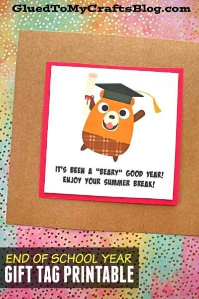 Beary Good School Year - Gift Tag Printable