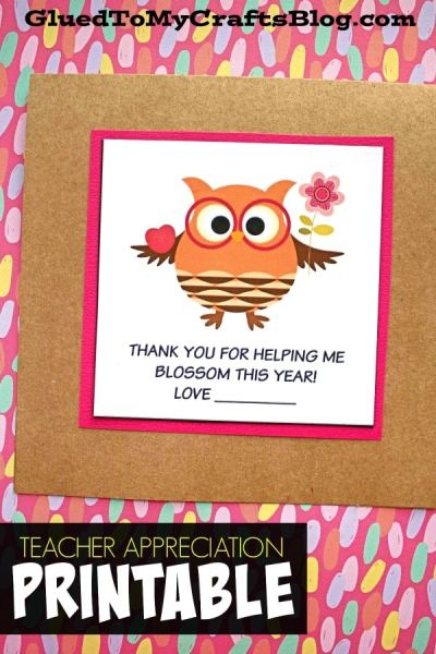 Thank You For Helping Me Blossom - Gift Tag Printable