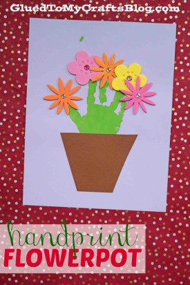 Handprint Flowerpot {Kid Craft}