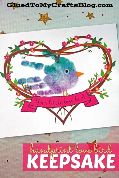 Handprint My Little Love Bird Keepsake