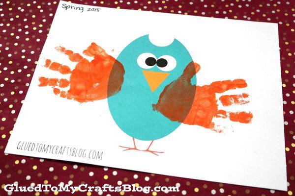 Handprint Owl w/free printable template