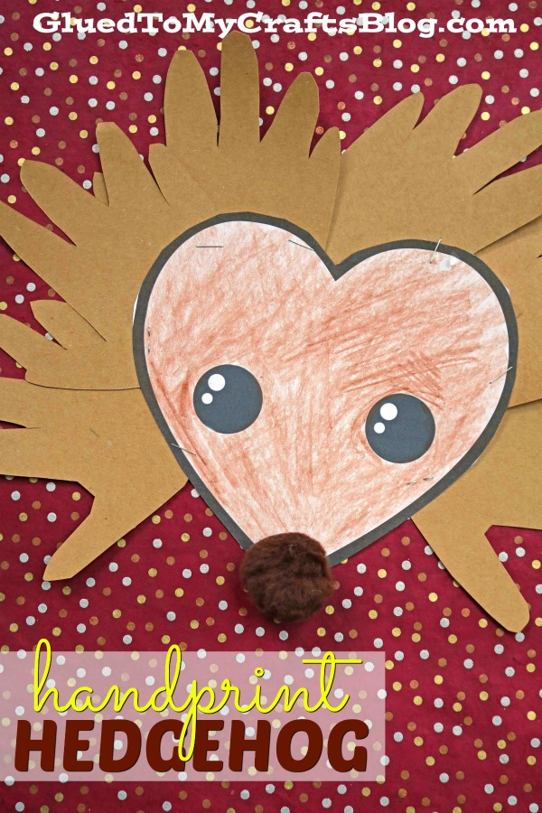 Paper Handprint Hedgehog Kid Craft