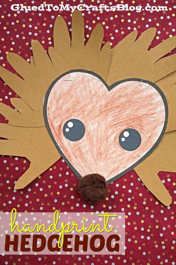Paper Handprint Hedgehog Kid Craft