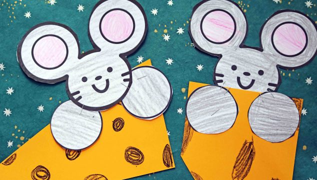 Cute Mouse and Cheese – Paper Kid Craft