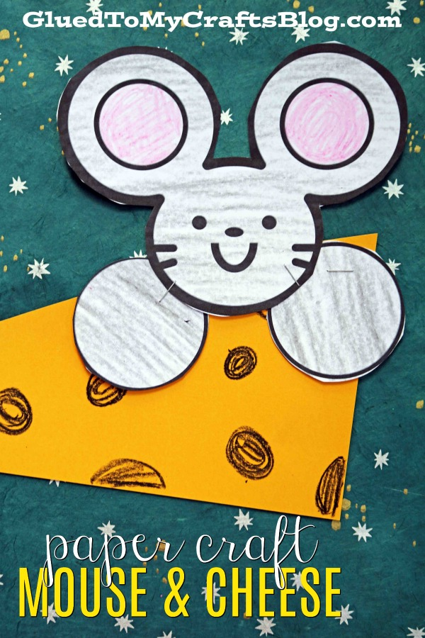 Cute Mouse and Cheese - Paper Kid Craft