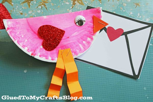 Paper Plate Valentine Love Bird - Kid Craft