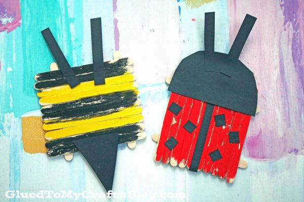 Popsicle Stick Bugs - Kid Craft