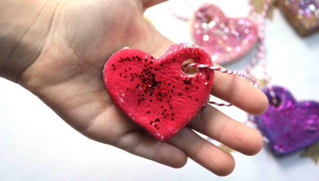 Salt Dough Valentine Gift Tags Craft