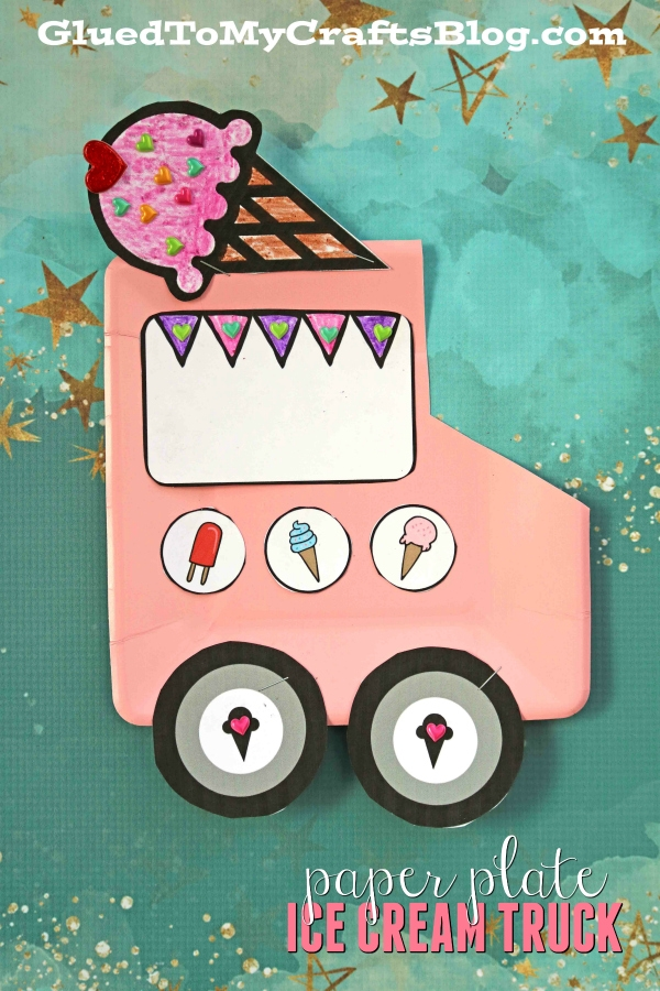 Paper Plate Ice Cream Truck - Kid Craft