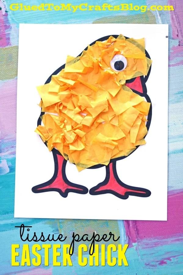 SUPER EASY Tissue Paper Baby Chick Craft