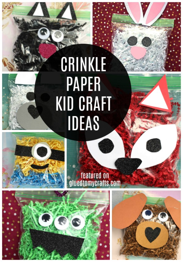 Easter Crinkle Paper Kid Craft Roundup