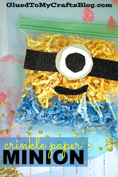 Crinkle Paper Minion - Kid Craft Idea