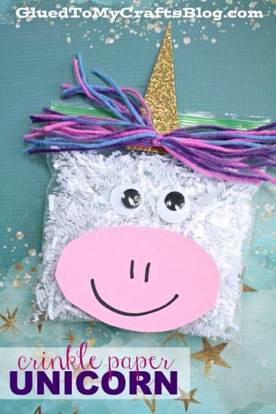 Crinkle Paper Unicorn Friend - Kid Craft Idea