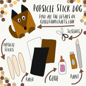 Popsicle Stick Dog - Kid Craft