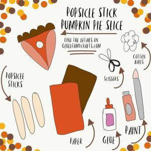 Popsicle Stick Pumpkin Pie - Kid Craft