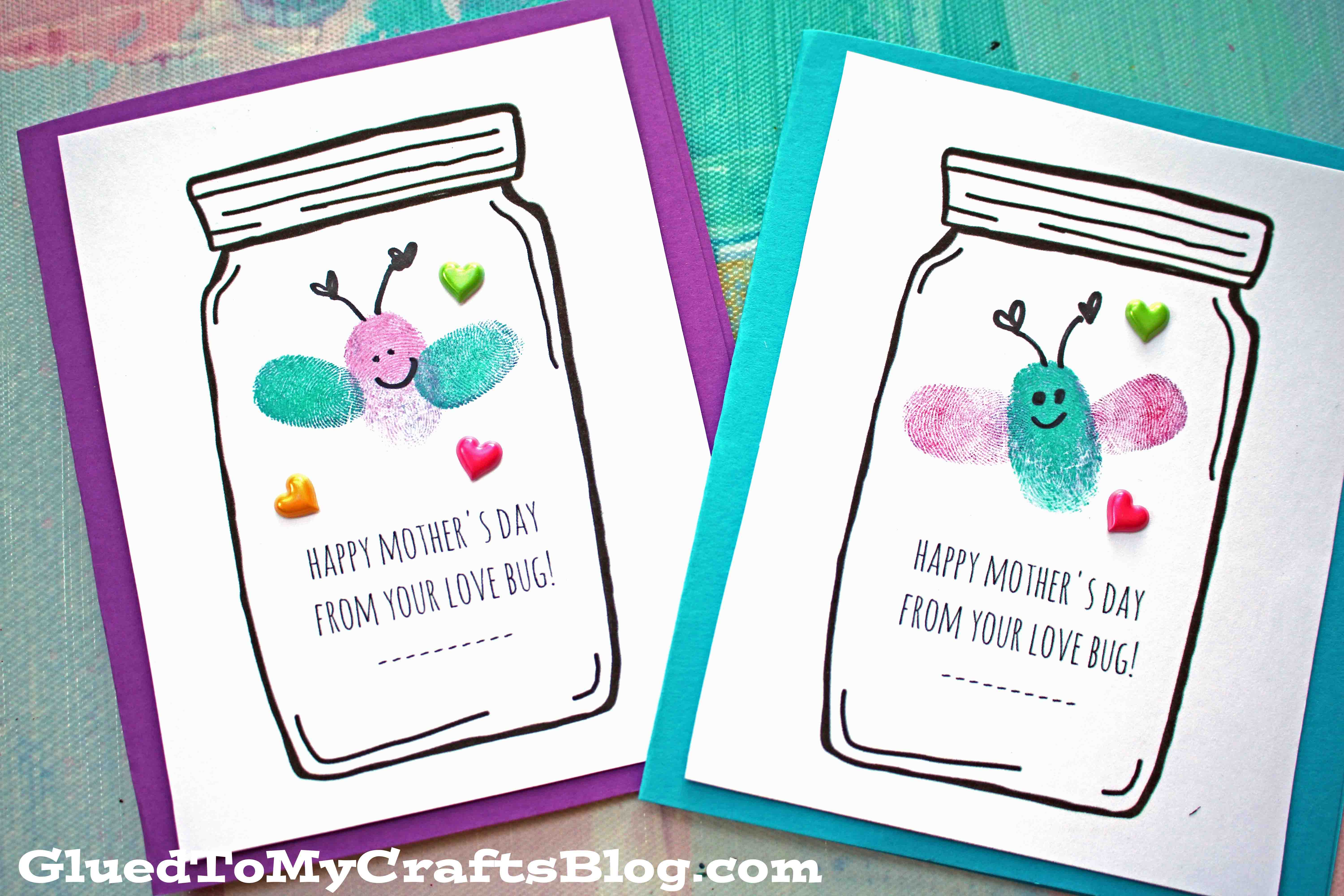 photograph regarding Free Printable Mothers Day Crafts named Moms Working day Delight in Bug Playing cards - Little one Craft