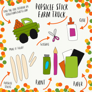 Popsicle Stick Farm Truck - Kid Craft Idea
