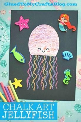 Paper Chalk Art Jellyfish - Kid Craft