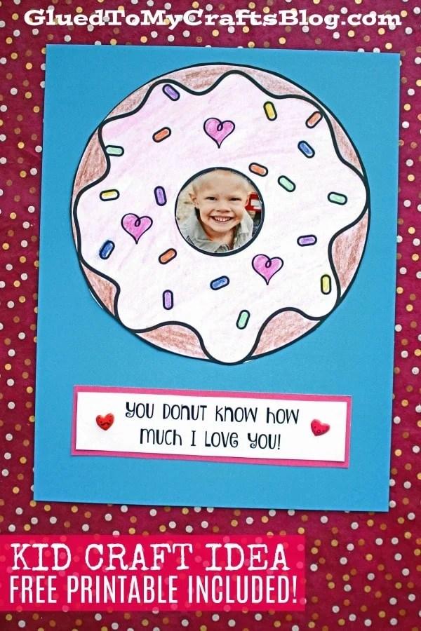 Paper Donut Love Frame - Kid Craft