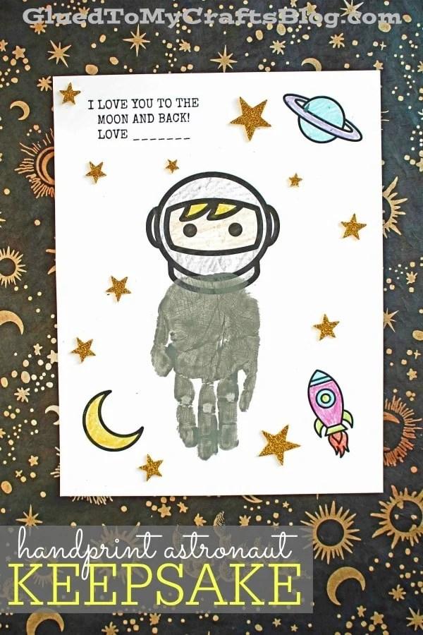To The Moon & Back - Handprint Astronaut Keepsake