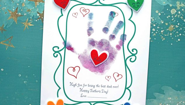 Handprint High Five To Dad Craft