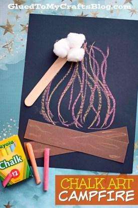 Chalk Art Campfire - Kid Craft