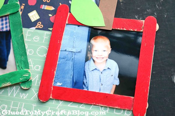 Popsicle Stick Apple Picture Frame - Kid Craft