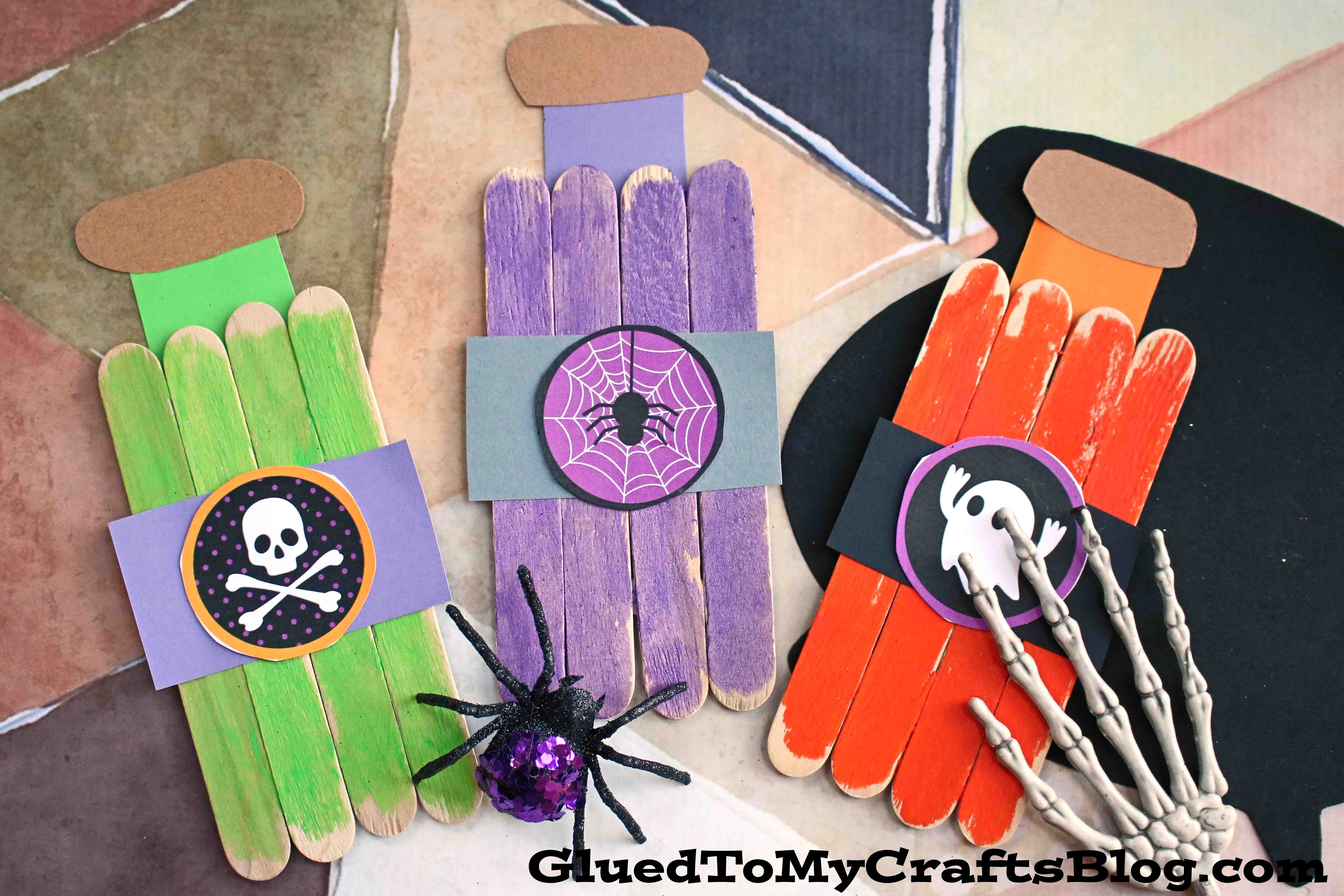 Popsicle Stick Witch Potion Bottles Kid Craft Glued To