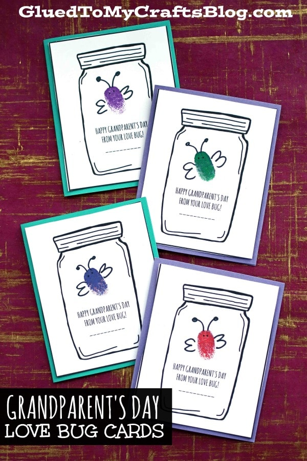 Grandparent's Day Love Bug Cards - Kid Craft