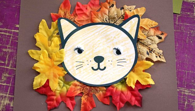 Lion Mane Out Of Leaves - Kid Craft