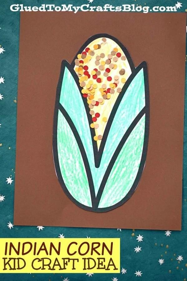 Simple Paper Indian Corn - Kid Craft