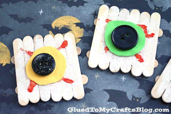 Popsicle Stick Eyeballs - Halloween Kid Craft