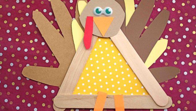 Popsicle Stick Turkey Friend - Kid Craft