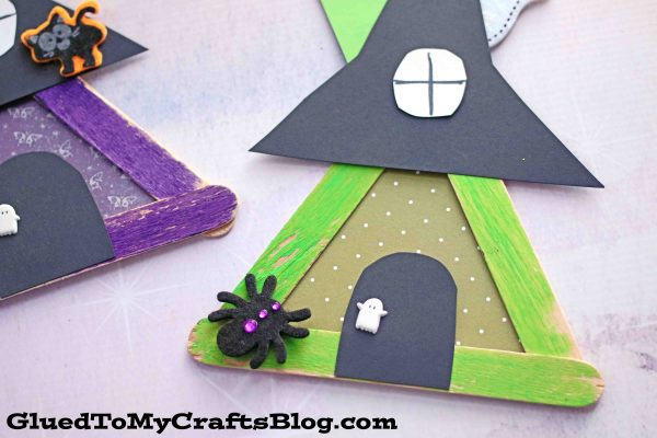 Popsicle Stick Witch House - Kid Craft