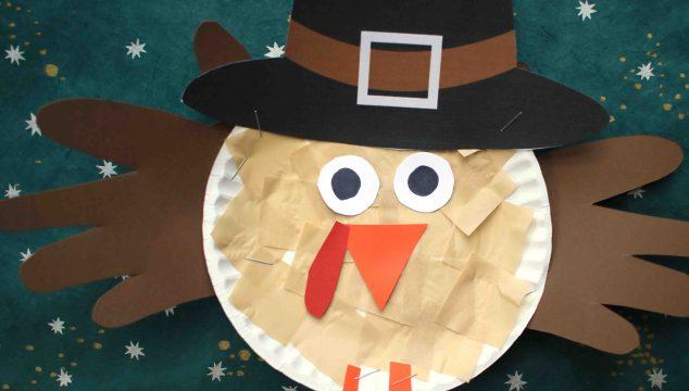 Paper Plate Pilgrim Turkey - Kid Craft