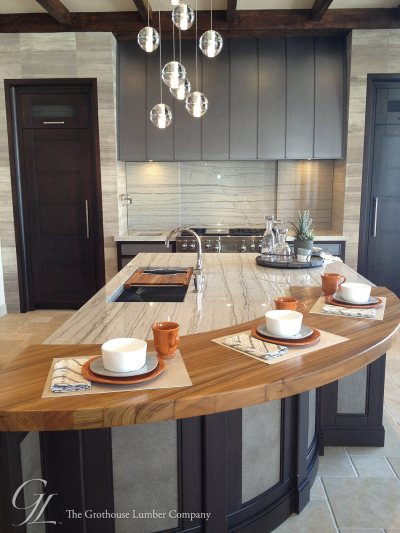 Custom Teak Wood Countertop in Denver, Colorado by Grothouse