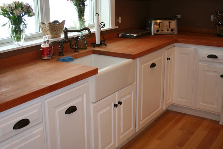 Wood Kitchen Countertops by Grothouse Cherry Wood Kitchen Countertops in Chicago