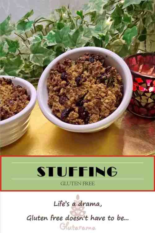 Gluten Free Stuffing with carnberries, the perfect addition to a Sunday Roast or Christmas Dinner