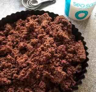 Salted Chocolate Tart crumb base