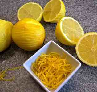 Lemon Zest for GF Cheesecake