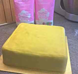 Marzipaned Christmas Cake