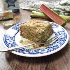 Gluten Free Rhubarb & Ginger Crumble Cake